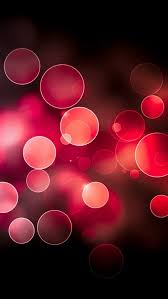 Red Circles Bokeh iPhone 6 6 Plus and iPhone Wallpapers