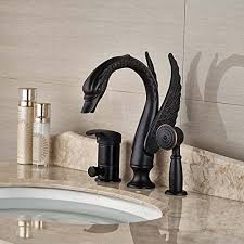 senlesen swan shape oil rubbed bronze bathroom tub faucet with