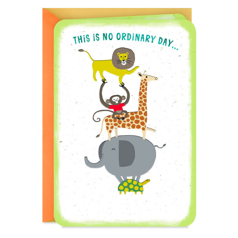 Circus Animals Woo-Hoo Congratulations Card