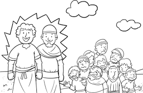 Click To See Printable Version Of Joshua And Caleb Brought Back A Good Report Coloring Page
