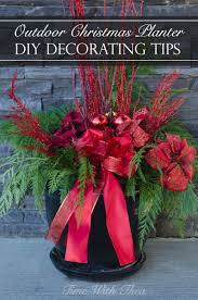 Outdoor Christmas Decorations Ideas To Make by Outdoor Christmas Planter Diy Decorating Tips Time With Thea