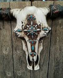Decorated Cow Skulls Pinterest by Turquoise Navajo Skull Cow Skulls Pinterest Skulls Navajo