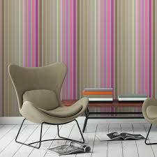 classic design tapete dekorativer streifen in edlen farben rosa beige vlies streifentapete für schlafzimmer
