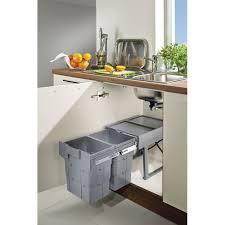 poubelle de cuisine coulissante monobac poubelle 2 bacs coulissante retractable 32 litres pour meuble de ninka