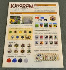 Kingdom Builder Board Game Rulebook