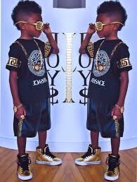 Shirt Guys Toddler Jewels Fashion Kids Swag Gold Black Versace