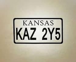 Supernatural Inspired 67 Chevy Impala Kansas License Plate KAZ Precision Die Cut Vinyl Car Window Decal Sticker For Fans Of The TV Show