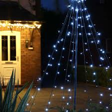Flagpole Christmas Tree Topper by 2m Outdoor Battery Christmas Teepee Tree 200 Leds