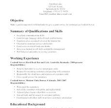 Sample Resume For Waitress Position No Experience Examples Waiter Skills Resumes Server Example Resum
