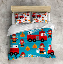 My 1st Big Boy Bed Set! Fireman Bed Set, Firetruck Bedding, Toddler ...
