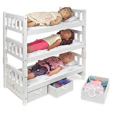Badger Basket 1 2 3 Convertible Doll Bunk Bed for 18 in Doll with