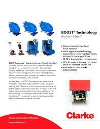 Clarke Floor Scrubber Pads by Product Brochure Boost Technology Clarke Pdf Catalogue