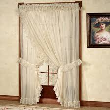 Lace Curtains Panels With Attached Valance by Priscilla Curtains Window Treatments For Home Decor Best