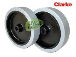 clarke floor scrubber focus ii 2 wheel assemblies for clarke focus ii floor scrubber oem parts