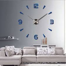 2017 Special Large Diy Quartz 3d Wall Clock Living Room Big Watch Mirror Stickers Modern Design Home Decor Free Shipping In Clocks From