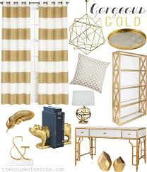 Drapes For Office Gorgeous Gold Accents How To Incorporate The Trend Into Your Home Decor From House Of Smiths Love Striped Curtains