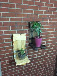 Rustic Plant Shelf Hanging Flower Pot Holder Wall
