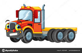 Cartoon Happy And Funny Truck — Stock Photo © Illustrator_hft #165579988