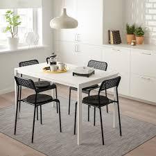 melltorp adde tisch und 4 stühle weiß schwarz ikea schweiz