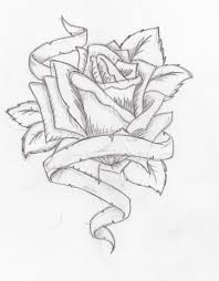 Drawings Of Flowers And Hearts Pencil Roses