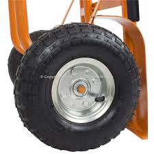 100 Heavy Duty Truck Wheels Sack With Pneumatic Tyres 300kg Safety Lifting