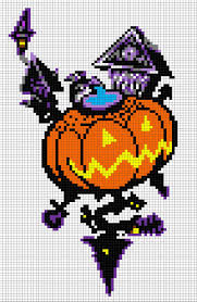Minecraft Halloween Stencils by Halloween Bead Crafts Magickalideas Com