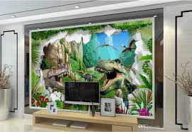 3d Wallpaper Mural Custom Dinosaur Oil Painting Living Room Tv Wall Photo Beautiful Wallpapers Bedroom From Yeyueman8888