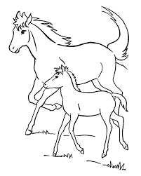 The Mother Horses And Foals Coloring Pages