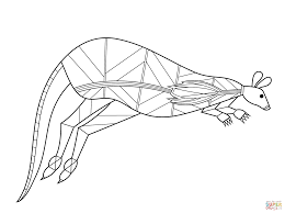 Click The Kangaroo In Aboriginal Style Coloring Pages To View Printable