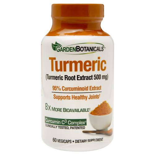 Garden Botanicals Turmeric Root Extract Supplement - 60 Count
