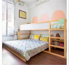 Loft Bed With Slide Ikea by Ikea Kura Bed With Full Bed Under Girls Shared Room Pinterest