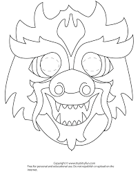 Cheshire Cat Mask Coloring Page 17 Best Images About Printable Masks