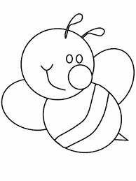 Bumblebee Cute With Big Smile Coloring Page