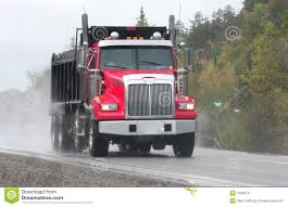Red Dump Truck Stock Photo. Image Of Autos, Driving, Highway - 1508374