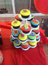 Boys Superhero Birthday Cupcake Ideas
