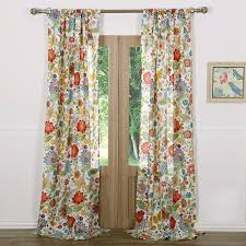 Jacobean Style Floral Curtains by Amazon Com Astoria White Window Panel Pair Home U0026 Kitchen