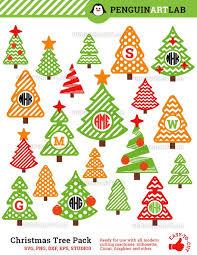Christmas Tree Monogram Frames Professionaly Designed SVG