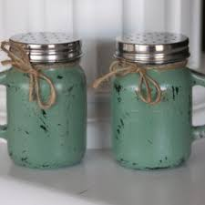 Mason Jar Salt And Pepper Shakers Rustic Shaker Kitchen Theme