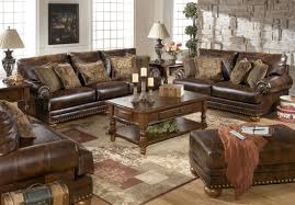 Living Room Ideas Brown Leather Sofa by Furniture Rustic Coffee Table By Ashley Furniture Austin On Feizy
