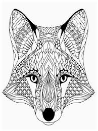 Coloring Pages Adults Wolves Head