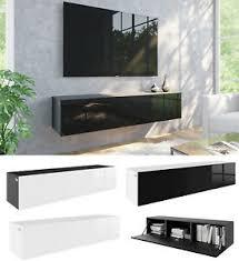 details zu tv lowboard 140 cm 160 hängeboard acryl hochglanz 18mm mdf schrank weiß schwarz