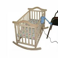 No Radiation Electric Rocking Baby Cradle Baby Swing Pine Cribs