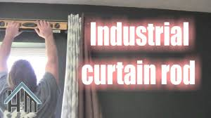 Electrical Conduit Curtain Rods by How To Install Industrial Curtain Rods Easy Home Mender Youtube