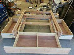this platform bed is loaded with storage easy to make free how