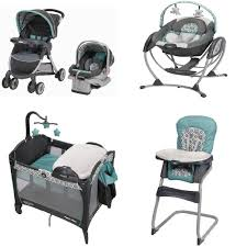 Target Eddie Bauer High Chair by Graco Affinia Blue Complete Baby Gear Bundle Stroller Travel