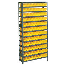 Edsal Metal Storage Cabinets by Edsal 75 In H X 36 In W X 12 In D Plastic Bin Small Parts Steel