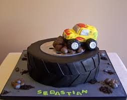 Tire And Monster Truck Cake | 10