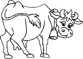 Pin Cow Clipart Coloring Page 1