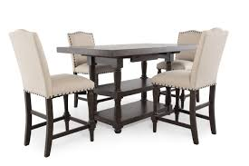 Mathis Brothers Patio Furniture by Winners Only Xcalibur Tall Five Piece Dining Set Mathis Brothers