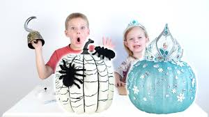 Captain Underpants Pumpkin Carving by Elsa And Spider Web Pumpkin Tutorial Video Youtube